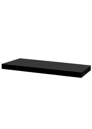 <![CDATA[Nástěnná polička 80cm, barva černá - vysoký lesk Autronic]]>