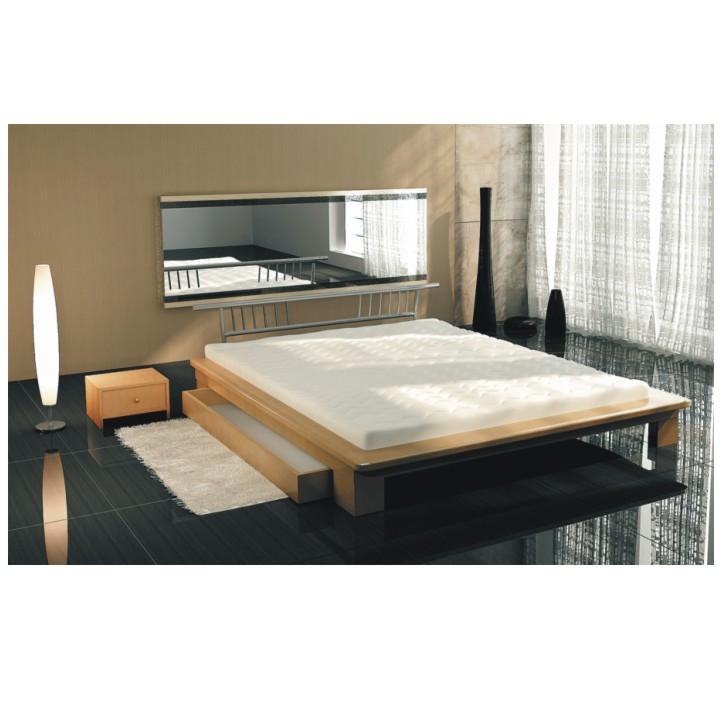 <![CDATA[Manželská postel s matrací a roštem, buk, 160x200, KAPITOL 80220 Tempo Kondela]]>