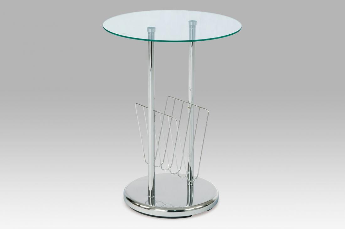 <![CDATA[Odkládací stolek / novinový stojan, sklo / chrom 83728 Autronic]]>
