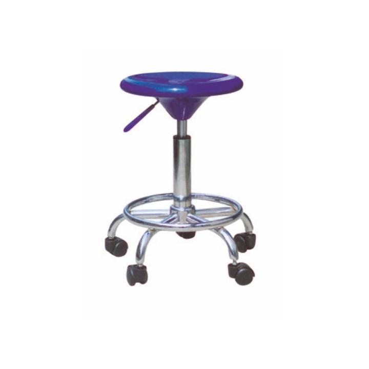 <![CDATA[Židle na kolečkách, modrý plast/chrom, MABEL NEW Tempo Kondela]]>