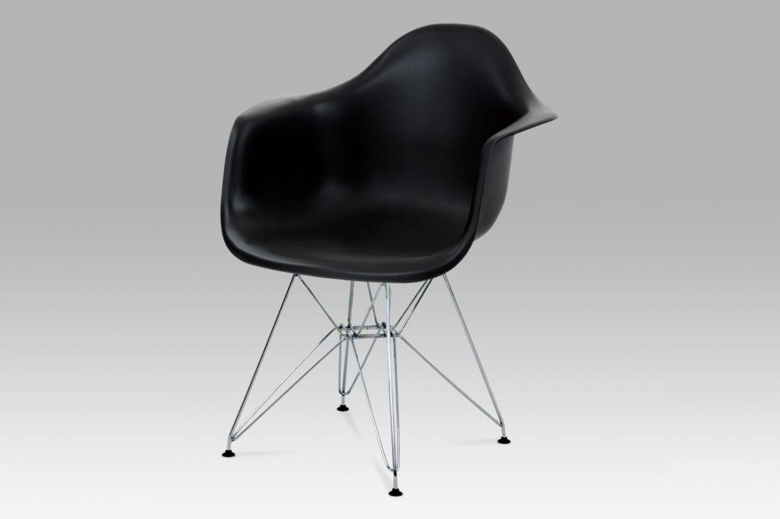 <![CDATA[Jídelní židle, plast černý / chrom Autronic]]>