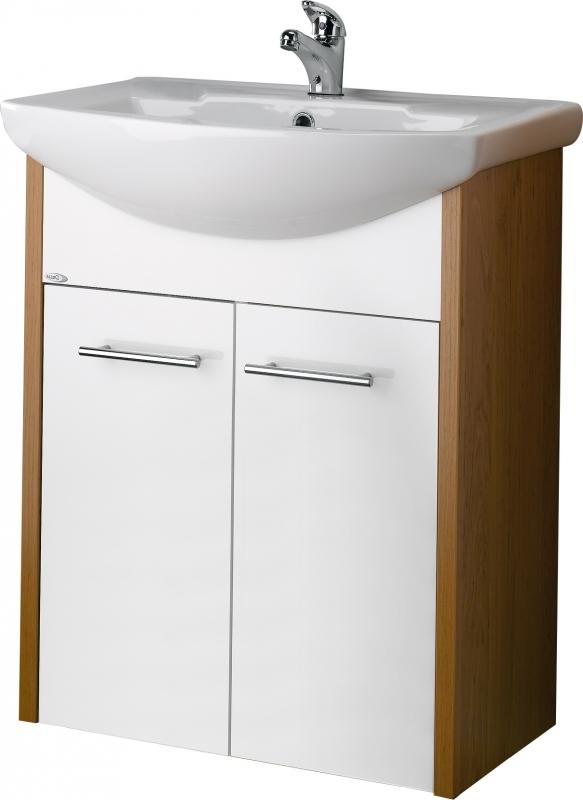 <![CDATA[Koupelnová skříňka HIT 65 olše/bílá dřevojas]]>