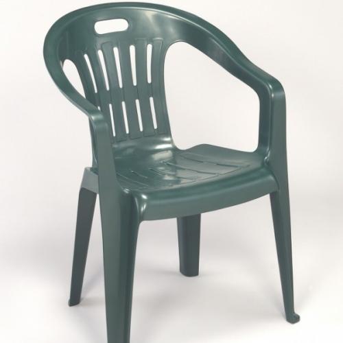 <![CDATA[Zahradní židle křeslo PIONA plastová nízká - zelená Bibl]]>
