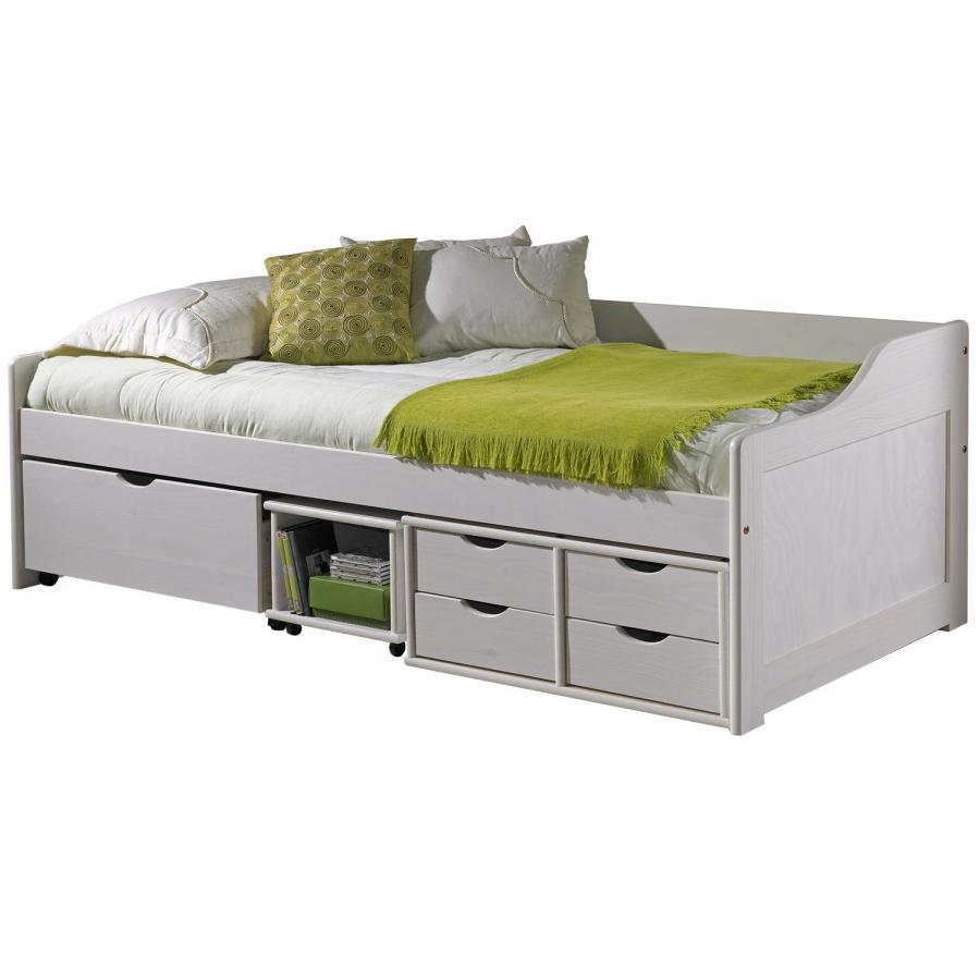 <![CDATA[Zvýšená postel z masivu 90x200 cm s roštem 8809B Idea]]>