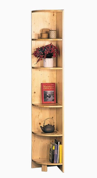 <![CDATA[Rohová knihovna ( regál ) 861 masiv borovice lak Idea]]>
