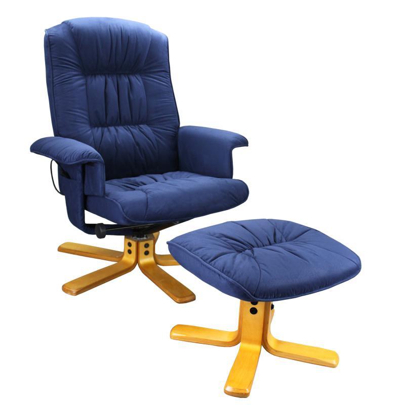 <![CDATA[Relaxační masážní křeslo Relax s podnožkou modré K37 Idea]]>