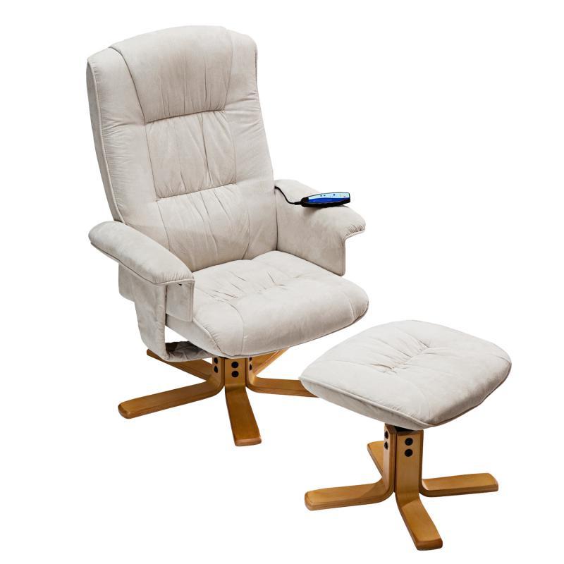 <![CDATA[Relaxační masážní křeslo Relax s podnožkou béžové K36 Idea]]>