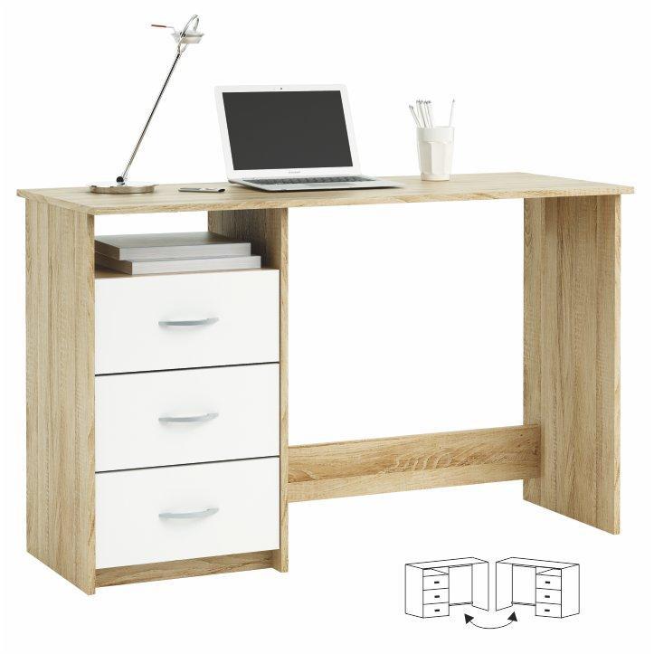 <![CDATA[Počítačový stůl, PC stolek Laristote 101000, dub sonoma / bílá Tempo Kondela]]>