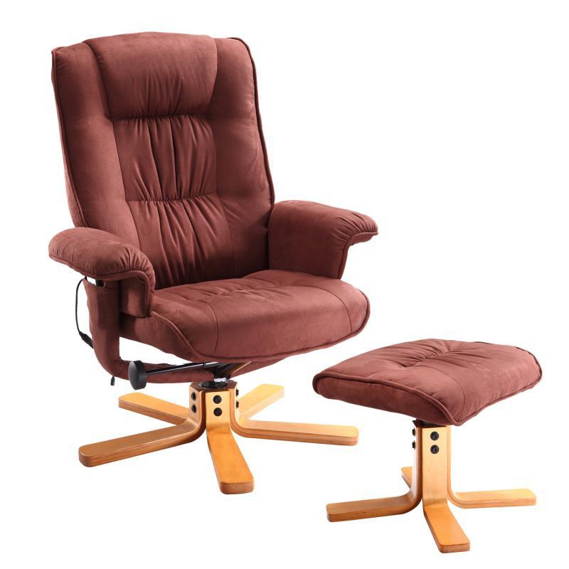 <![CDATA[Relaxační masážní křeslo Relax s podnožkou hnědé K47 Idea]]>