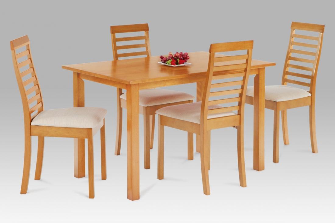 <![CDATA[Jídelní set, jídelní stůl a židle AUT-4000 OL 1+4 olše masiv Autronic]]>