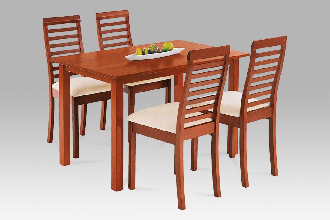 <![CDATA[Jídelní set, jídelní stůl a židle AUT-4000 TR2 1 + 4 třešeň Autronic]]>