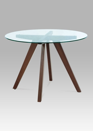 <![CDATA[Kulatý jídelní stůl BT-6850 WAL ořech/sklo Autronic]]>