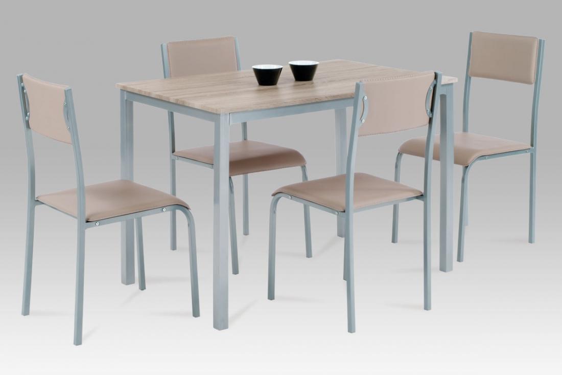 <![CDATA[Jídelní set 1+4, jídelní stůl a židle HARRY SON sonoma dub Autronic]]>