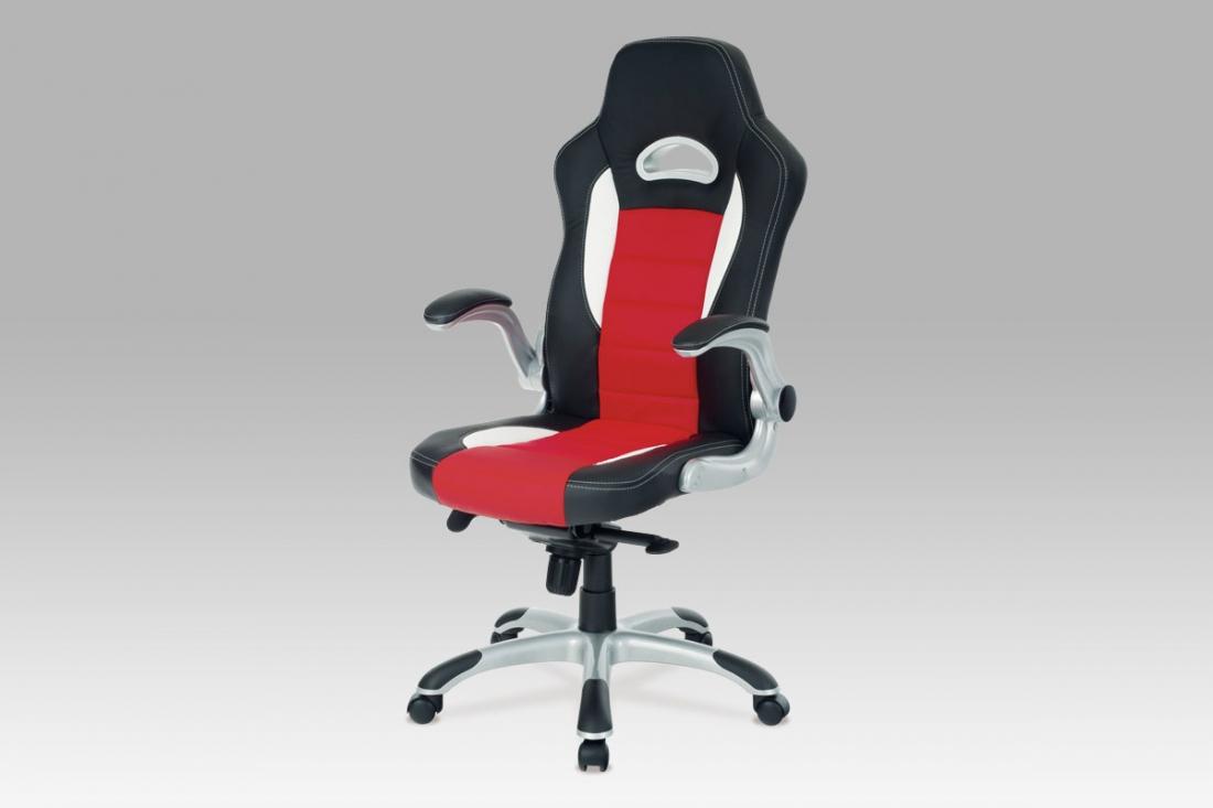 <![CDATA[Kancelářská židle KA-E240B RED černo-červená Autronic]]>
