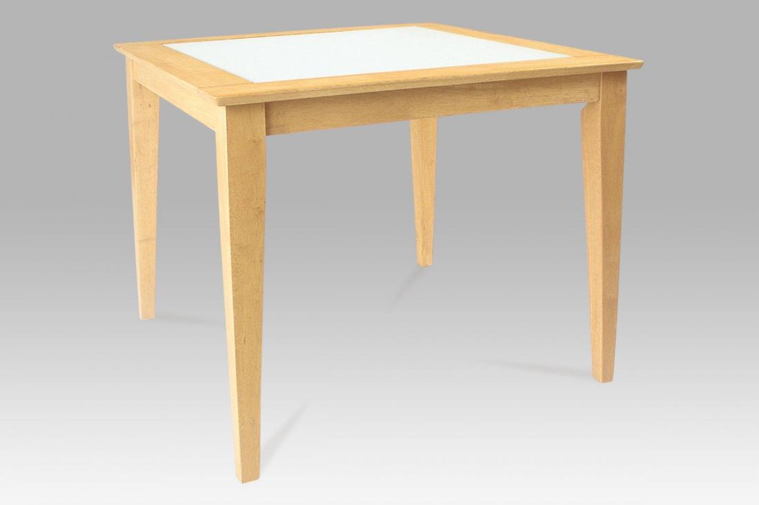 <![CDATA[Jídelní stůl z masivu 90 x 90 YAT295 BUK2 DENIS buk / sklo Autronic]]>