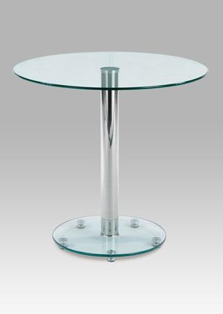 <![CDATA[Skleněný kulatý jídelní stůl 80 cm GDT-839 chrom / sklo Autronic]]>