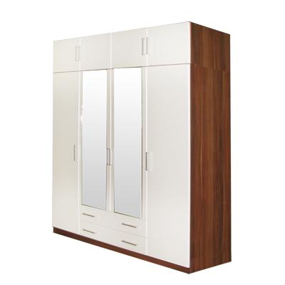 <![CDATA[šatní skříň 61540 ořech / bílá 4 dveřová Idea]]>