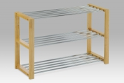 botník - 3 police 83168-12 NAT  chromový / natural
