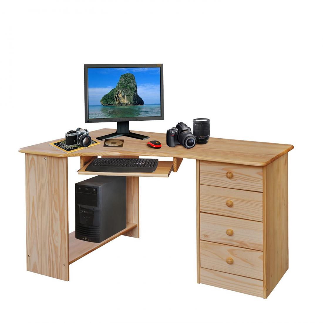 <![CDATA[PC stůl rohový 8846 masív borovice Idea]]>