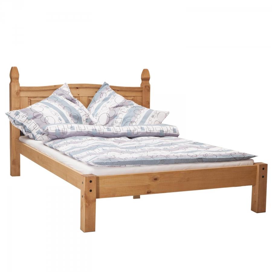 38908a4a0adcb manželská postel z masivu 140x200 Corona vosk 163624 - VYBERSITO.cz