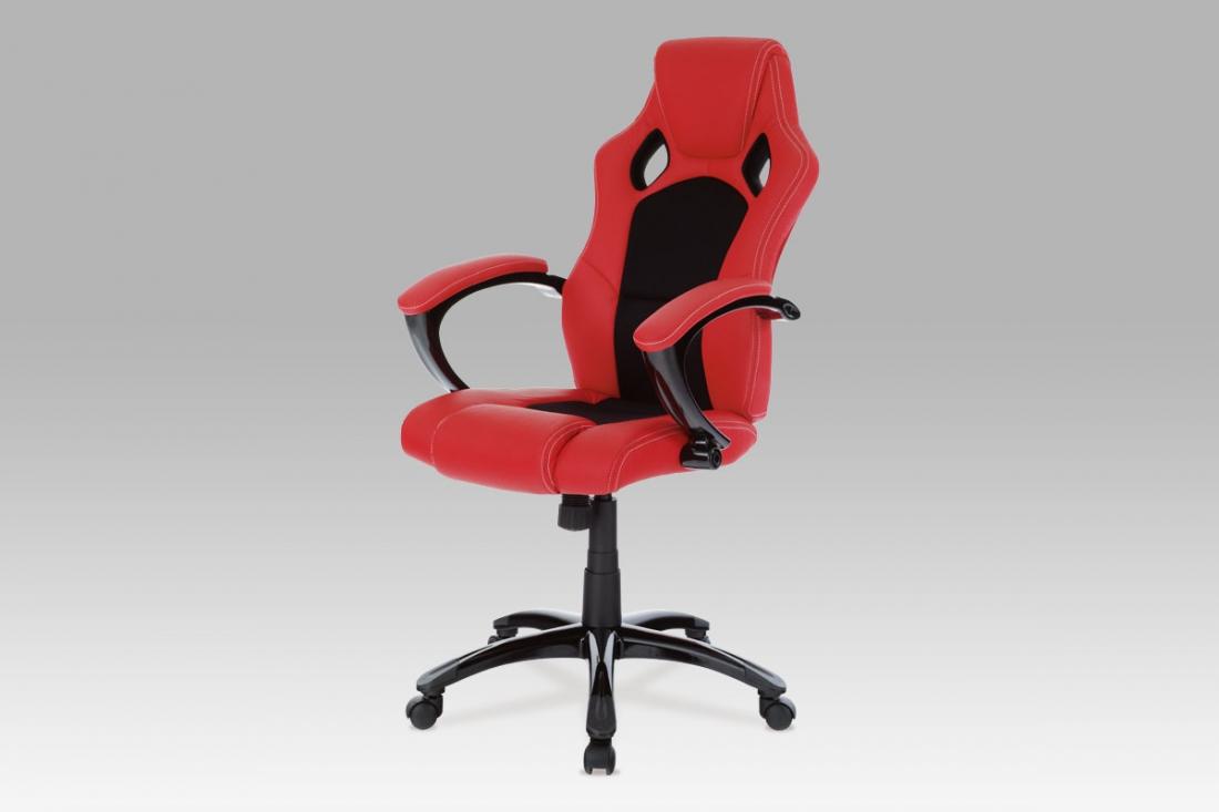 <![CDATA[Kancelářská židle KA-N157 RED červená / černá Autronic]]>
