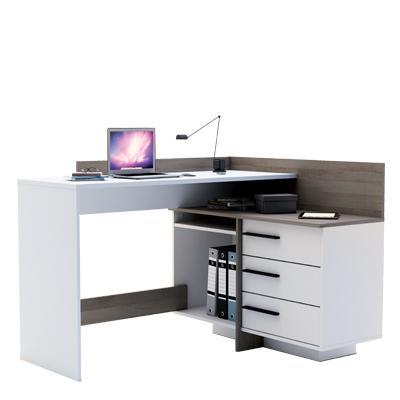 <![CDATA[Rohový psací stůl ( PC stůl ) Thales bílý / dub tmavý Idea]]>