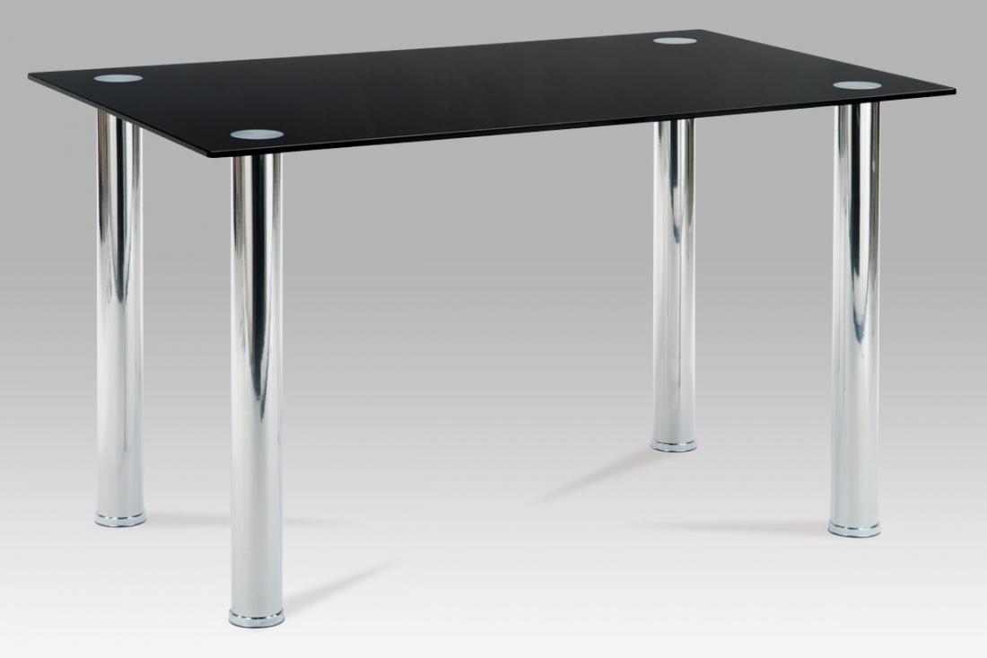 <![CDATA[Jídelní skleněný stůl AT-1011 BK černé sklo Autronic]]>