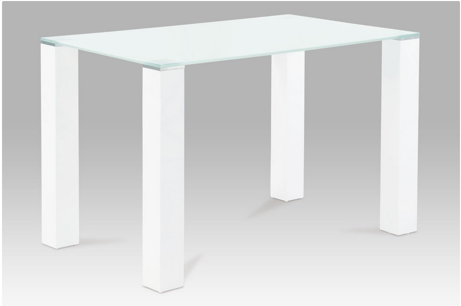 <![CDATA[Jídelní skleněný stůl AT-1055T WT bílé sklo / vysoký bílý lesk Autronic]]>