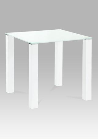 <![CDATA[Jídelní skleněný stůl AT-1066 WT bílé sklo / vysoký bílý lesk Autronic]]>