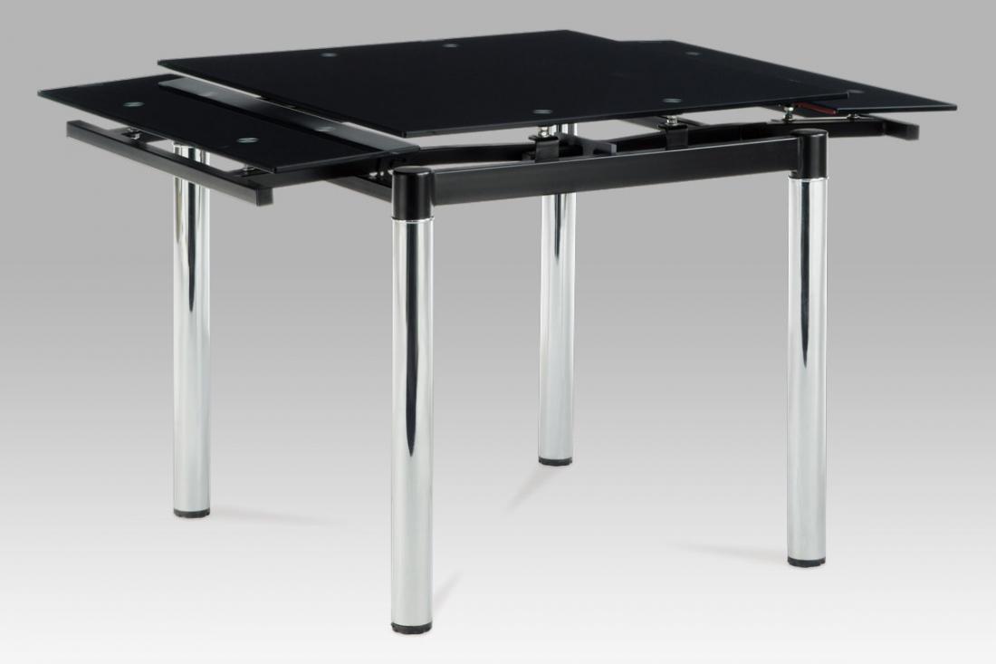 <![CDATA[Rozkládací jídelní skleněný stůl A1880T BK černé sklo / chrom Autronic]]>