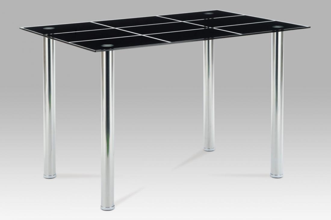 <![CDATA[Jídelní skleněný stůl AT-1888 BK černé sklo / chrom Autronic]]>