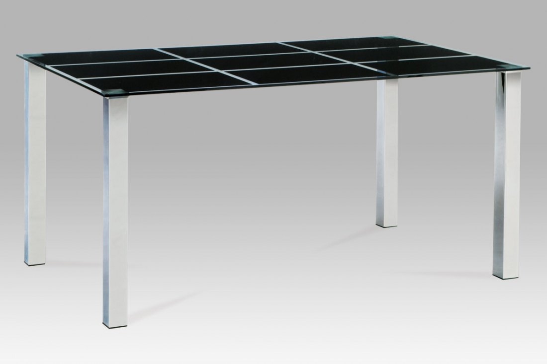 <![CDATA[Jídelní skleněný stůl AT-1899 BK černé sklo / chrom Autronic]]>