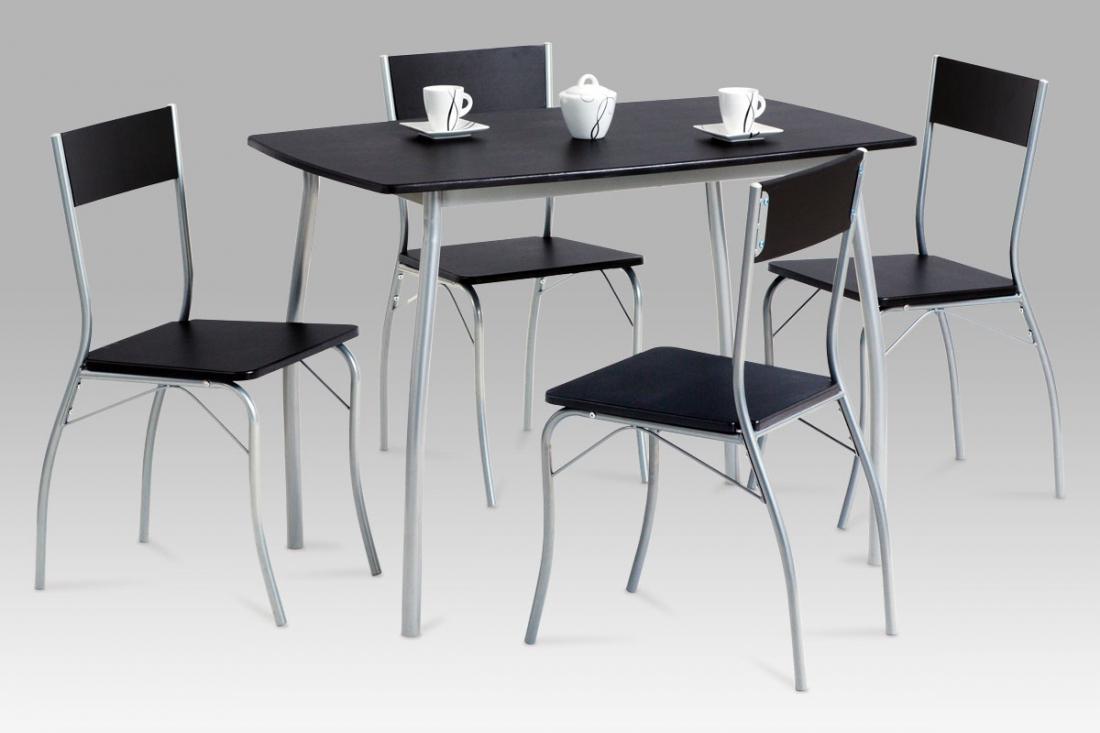 <![CDATA[Jídelní set 1+4, jídelní stůl a židle HANS BK wenge / šedý lak Autronic]]>