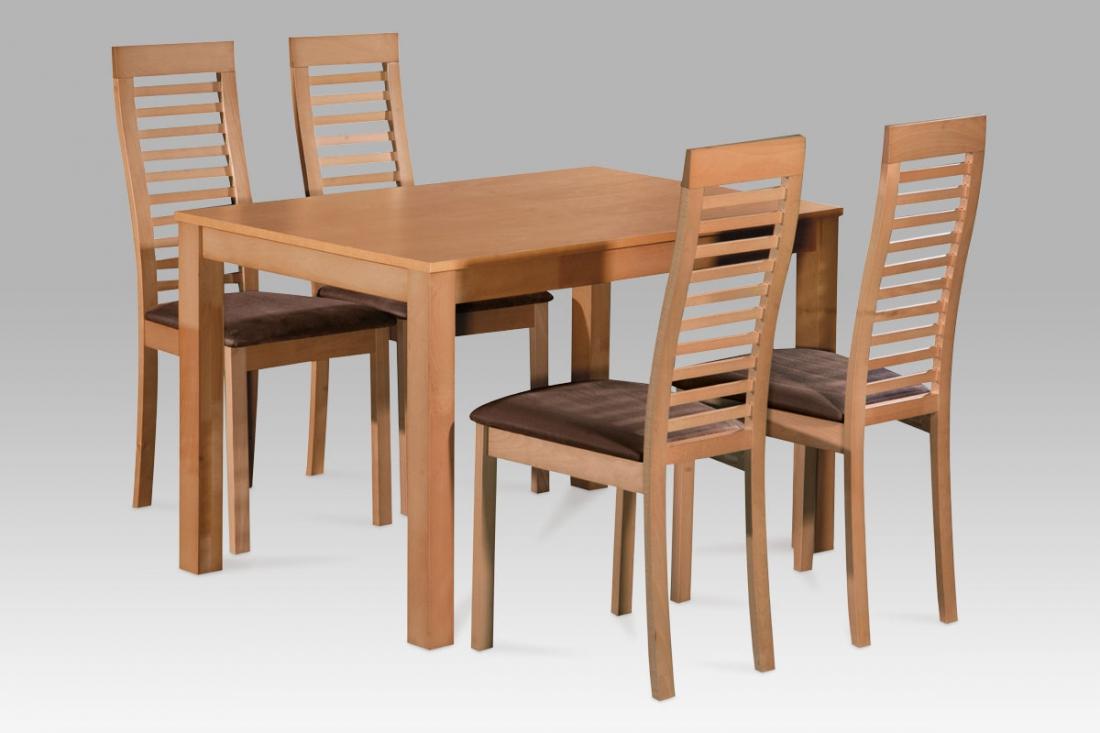 <![CDATA[Jídelní set, jídelní stůl a židle AUT-5000 BUK3 1+4 masiv buk Autronic]]>