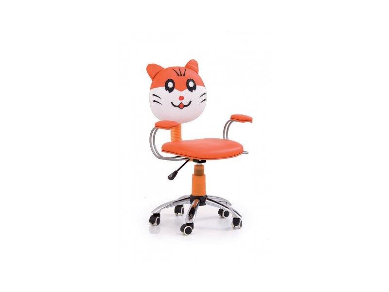 Ideální pracovní židle pro budoucího školáka. Má nezbytné nastavení výšky, tzv. pohup, s mírně se vychylujícím opěrákem. Dá se velmi dobře čistit a je k dostání na Vyber.si.to.cz v řadě různých dezénů.